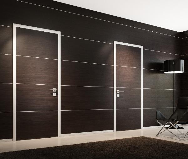 Ламинированные двери-невидимки