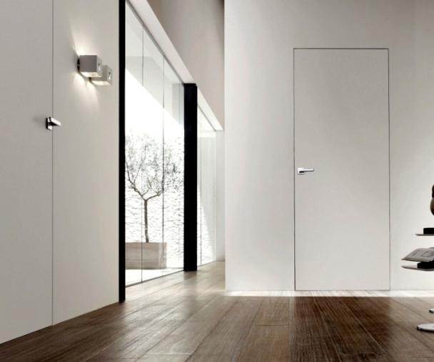 Двери скрытого монтажа ламинированные